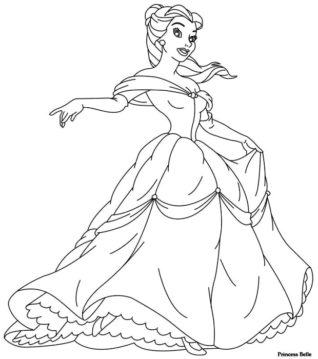 Princess Disney Belle De Colorat