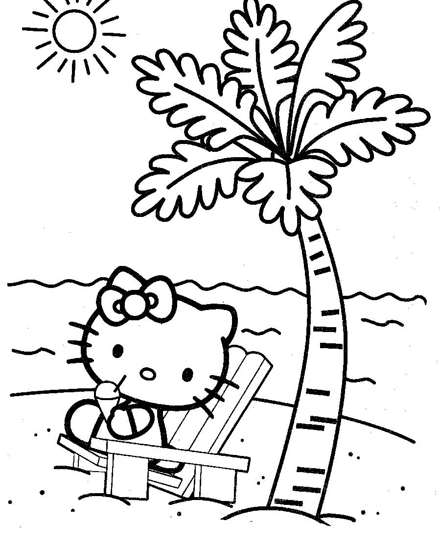 Hello Kitty Pe Plaja De Colorat